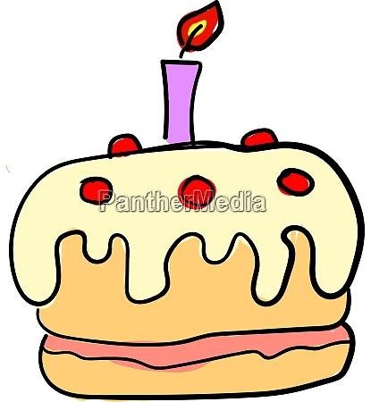 birthday cake illustration vector on white