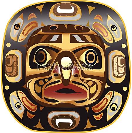 a native american wide moon mask