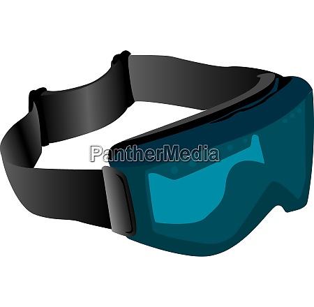 tinted ski goggles