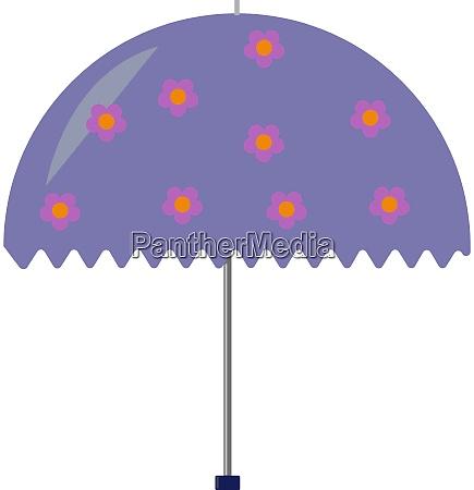 purple umbrella illustration vector on white