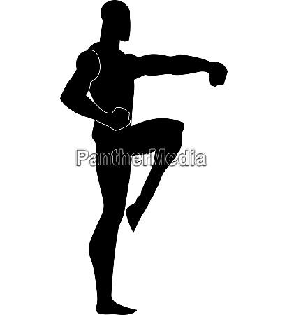 martial arts illustration