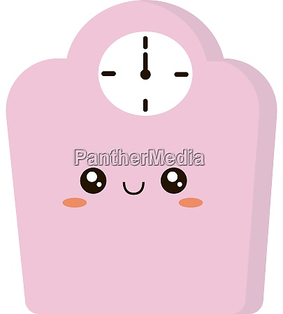 pink libra illustration vector on white