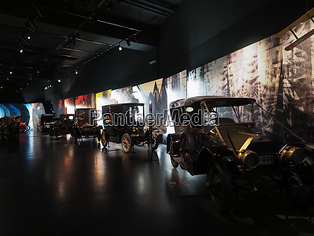 vintage cars at museo automobile car