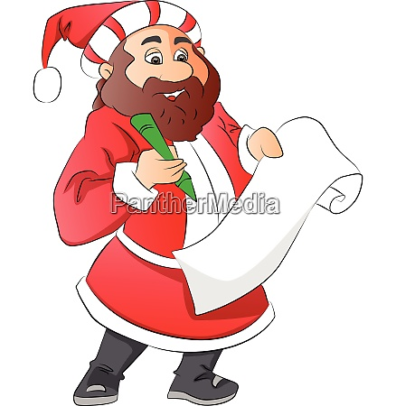 vector of santa claus with wish