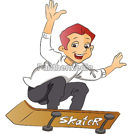 boy on a skateboard illustration