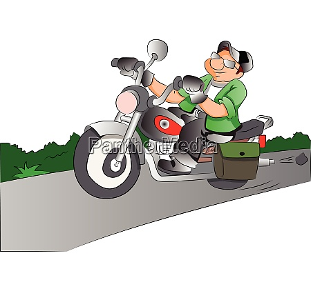 motorcycle rider illustration