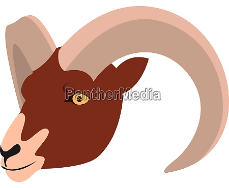 aries illustration vector on white background