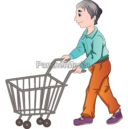 male shopper illustration