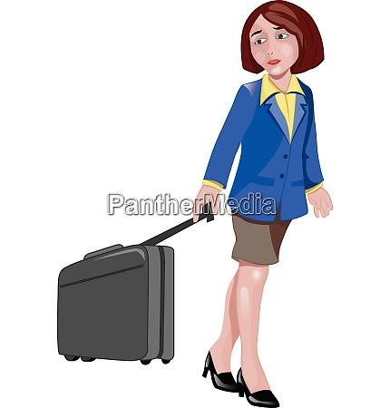 woman traveller illustration