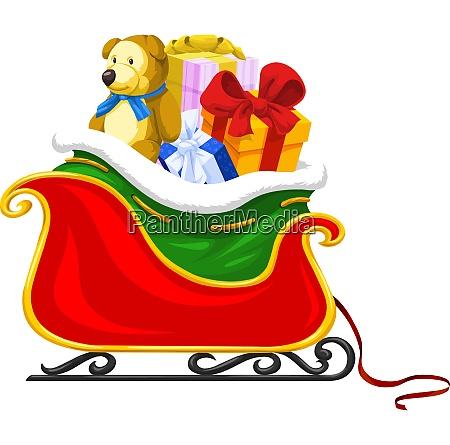 santas sleigh illustration