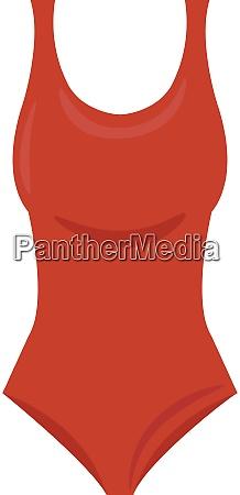 red swimsuit illustration vector on white