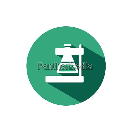 laboratory conical flask icon with shadow