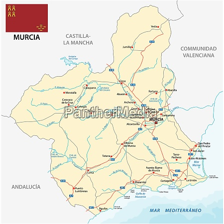 road map of the spanish region