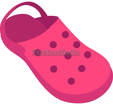 purple shoes illustration vector on white