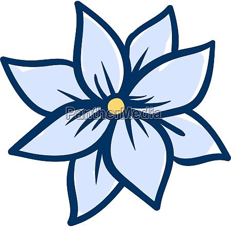 jasmine flower illustration vector on white