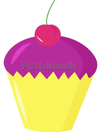 purple cake illustration vector on white