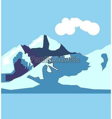 mountain, , illustration, , vector, on, white, background. - 27536698