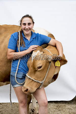 portrait of smiling female farmer with