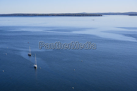sailboats at sea in acadia national