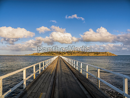 pier on victor harbor in south