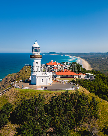 aerial view of byron bay lighthouse