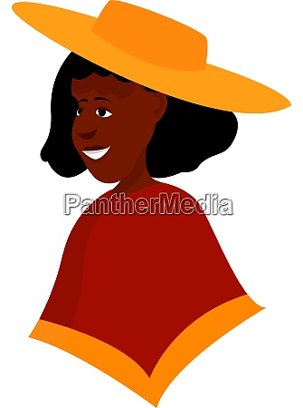 big hat illustration vector on white