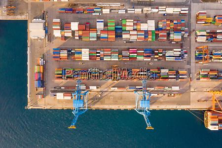 aerial view of adriatic gate container
