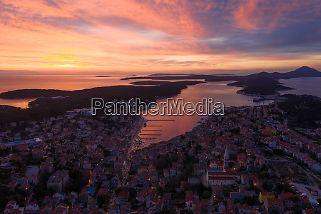 aerial view of mali loinj cityscape