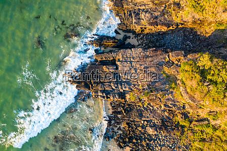 aerial view of noosa rocks beach