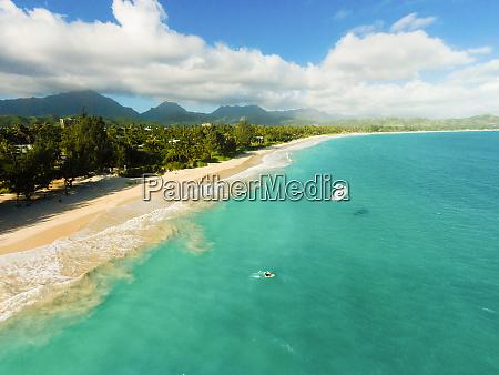 aerial view of kailua beach oahu