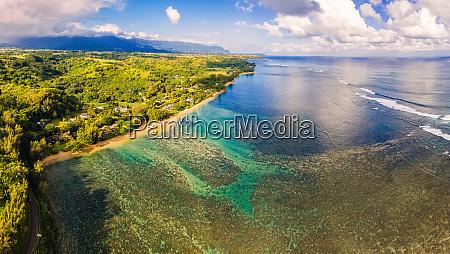 panoramic aerial view of anini beach