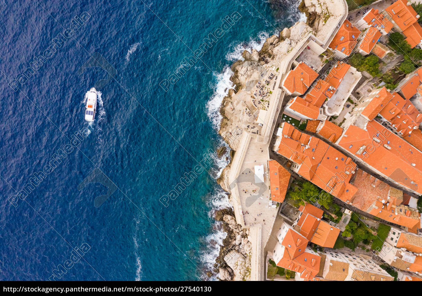 aerial, view, of, boat, sailing, near - 27540130