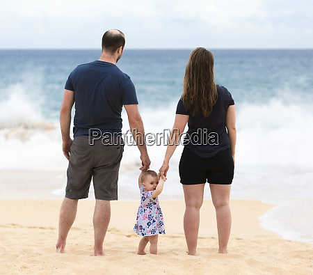 mother and father hold the hands
