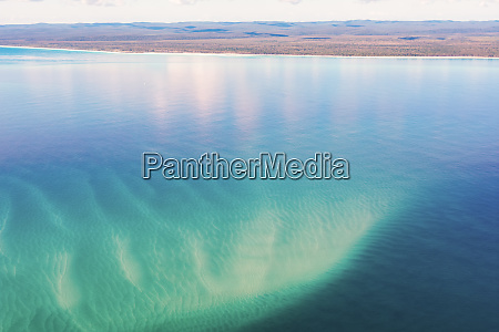aerial view of sand bars off