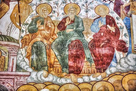 religious artwork depicting three religious figures