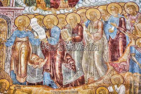 religious artwork depicting religious figures standing