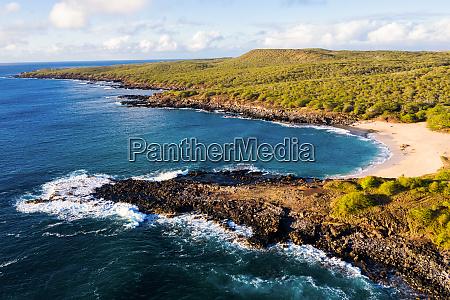 aerial view of kepuhi beach west
