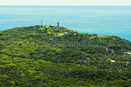 aerial view of cape moreton lighthouse