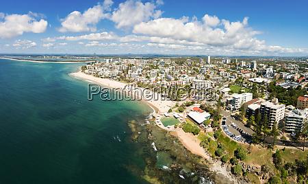 panoramic aerial view of kings beach