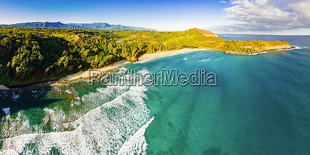 panoramic aerial view of kahili beach
