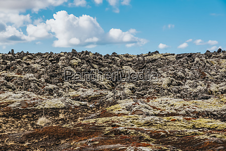 lava field geothermal area outside the