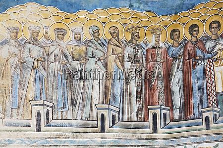 exterior frescoes portion of last judgement