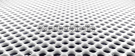 glossy white metal grid background 3d
