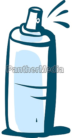 spray drawing illustration vector on white