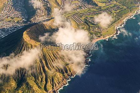 aerial view of honolulu oahu hawaii
