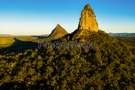 aerial view of the glasshouse mountains