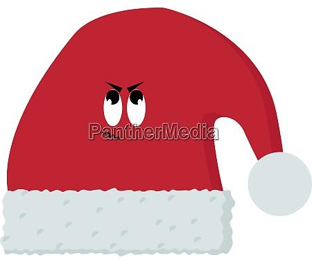 red hat illustration vector on white