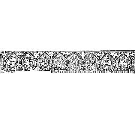 detail of the border vintage engraving