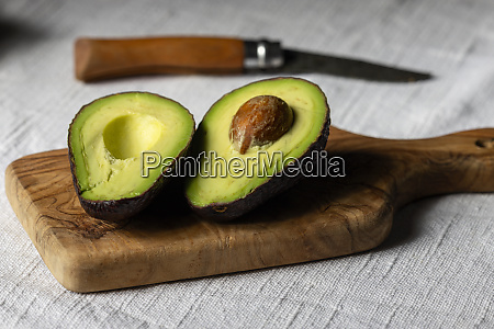 halves of avocado