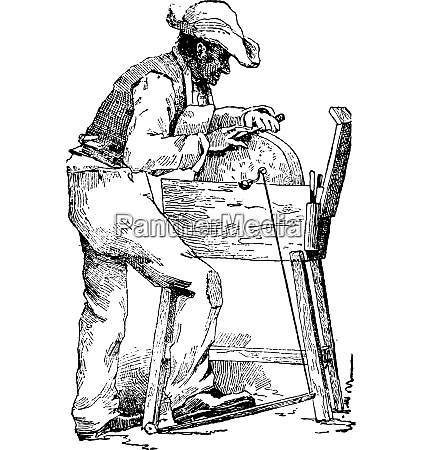 grinder vintage engraving